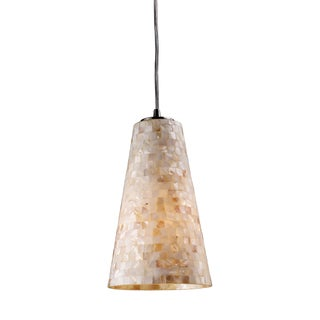 Capri Blown Glass and Satin Nickel 1-light Pendant
