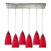 Elk Lighting Vesta 6-light Satin Nickel Pendant