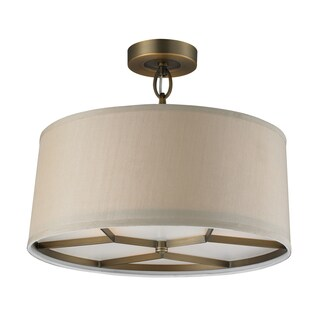 Elk Lighting 'Baxter' 3-light Brushed Antique Brass Pendant