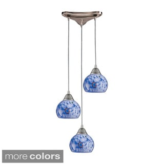 Elk Lighting 'Mela' 3-light Satin Nickel Pendant