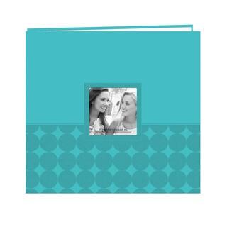 Pioneer Postbound Circles Aqua Leatherette Memory Book (12x12)