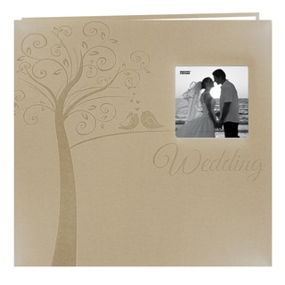 Pioneer Postbound Tree-embossed Leatherette Wedding Memory Book (12x12) with bonus inserts