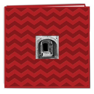 Pioneer Postbound Chevron Embossed Red Leatherette Memory Book (12x12)