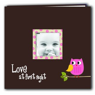 Pioneer Postbound Pink Baby Owl Memory Book (12x12)
