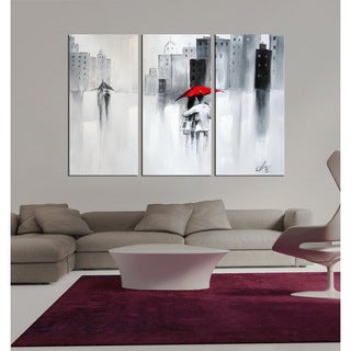 Hand-painted 'The Touch of Love' Gallery-wrapped Canvas Art Set