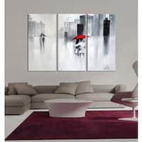 Hand-painted 'The Touch of Love' Gallery-wrapped Canvas Art Set - multi