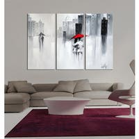 The Lighting Store 'The Touch of Love' Hand-painted 3-piece Gallery-wrapped Canvas Art Set