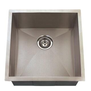 Highpoint Collection 20-inch 16-gauge Undermount Stainless Steel Kitchen Bar Island Sink with Drain