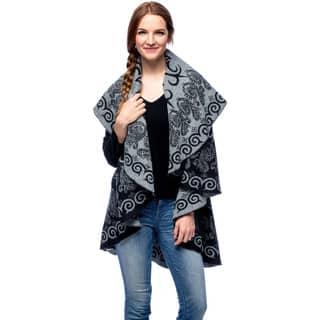 La Cera Women's Swirl Print Poncho https://ak1.ostkcdn.com/images/products/9481118/P16662758.jpg?impolicy=medium