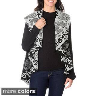 La Cera Women's Aztec and Paisley Print Poncho https://ak1.ostkcdn.com/images/products/9481119/P16662759.jpg?impolicy=medium