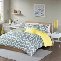 Intelligent Design Ella Yellow/ Grey 5-piece Duvet Cover Set