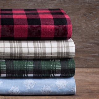 Shop Woolrich Cotton Flannel Sheet Set Free Shipping On
