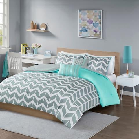Intelligent Design Laila Chevron 5-piece Comforter Set