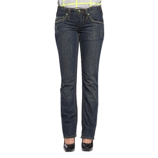Stitch's Women's Slim Straight Leg Flap-pocket Jeans