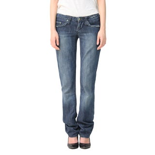 Stitch's Women's Blue Denim Boot-cut Jeans