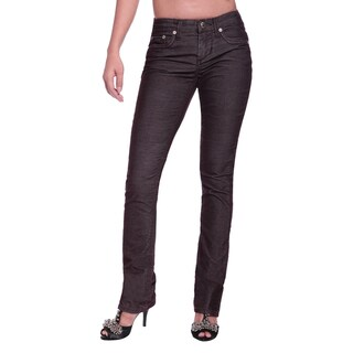 Stitch's Women's Brown Low-waist Straight Leg Pants