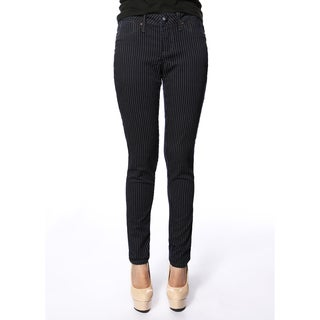 Stitch's Womens Navy Striped Denim Skinny Jeans