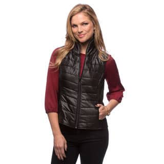 Live A Little Women's Black Puffy Vest|https://ak1.ostkcdn.com/images/products/9481219/P16662853.jpg?impolicy=medium