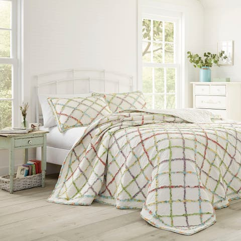 Laura Ashley Ruffled Multicolor Garden Quilt