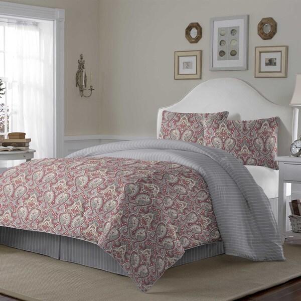 Laura Ashley Megan Paisley Terracotta 4-piece Comforter Set