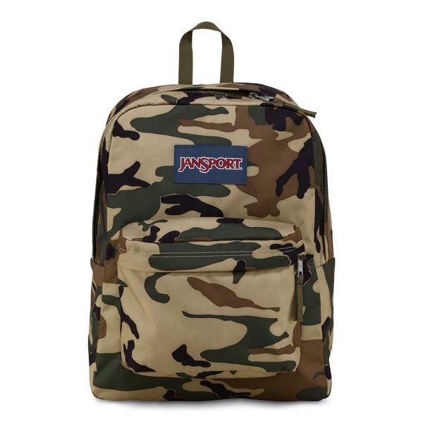 JanSport Desert Beige Conflict Camo Super Break School Backpack