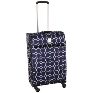 Jenni Chan Aria Park Ave Navy Ultralite 24-inch Medium Upright Spinner Suitcase