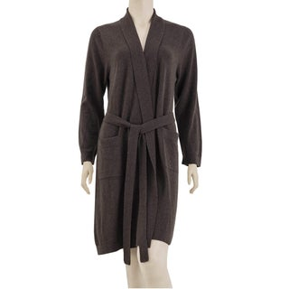 Metropolitan Home Cashmere Robe in a Gift Box (Option: S/M - Brown)