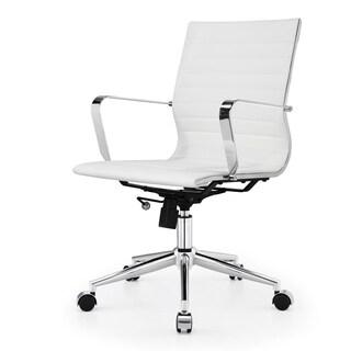 M344 Meelano Modern White Office Chair