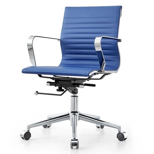 M344 Modern Blue Vegan Leather Office Chair