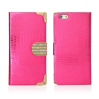 Gearonic Bling Wallet PU Leather Flip Case Cover for Apple iPhone
