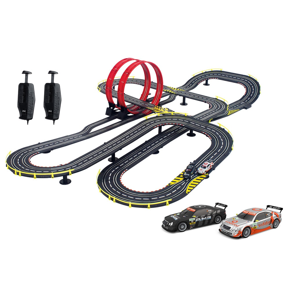 speedway slot car racing set multi colored mercedez benz track kids gift toy