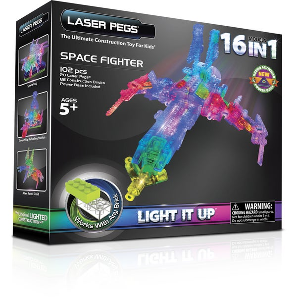 Shop Laser Pegs 16 In 1 Space Fighter Lighted Construction