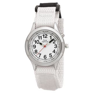 Youth/ Adult Talking Watch with White Hook and Loop Adjustable Strap|https://ak1.ostkcdn.com/images/products/9481518/P16663142.jpg?impolicy=medium