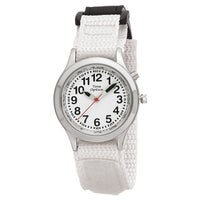 b6287c207 Youth/ Adult Talking Watch with White Hook and Loop Adjustable Strap