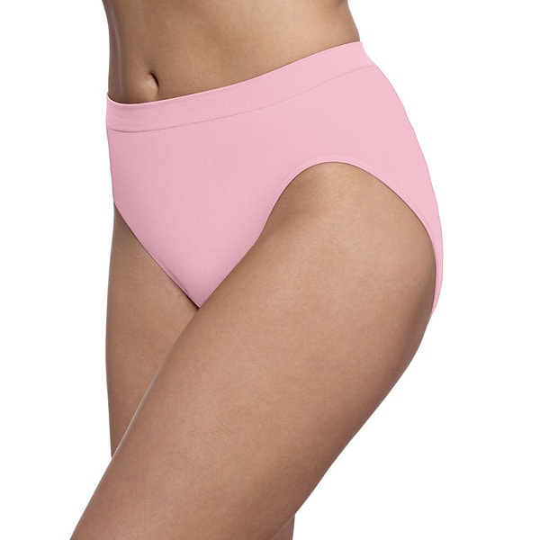 4b2c61468619 Bali Women's Barely There Comfort Revolution Microfiber Seamless Hi-cut  Panties