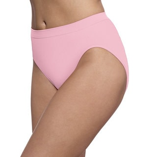 Bali Women's Barely There Comfort Revolution Microfiber Seamless Hi-cut Panties