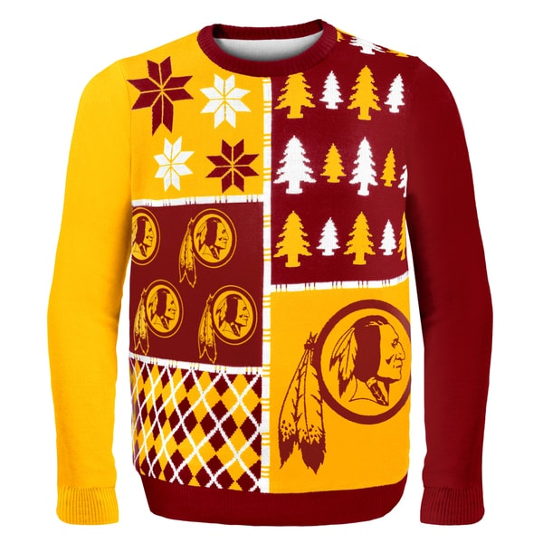 Shop Forever Collectibles NFL Washington Redskins Busy Block Ugly Sweater -  Free Shipping Today - Overstock - 9482095 6873e1f1f