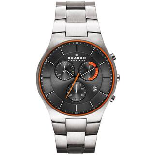 Skagen Men's SKW6076 Balder Chronograph Grey Dial Titanium Bracelet Watch