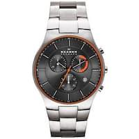 Skagen Men's SKW6076 Balder Chronograph Grey Dial Titanium Bracelet Watch