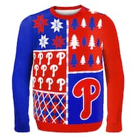 Forever Collectibles MLB Philadelphia Phillies Busy Block Ugly Sweater