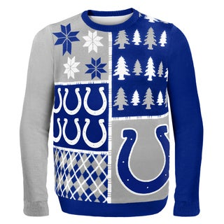 Forever Collectibles NFL Indianapolis Colts Busy Block Ugly Sweater