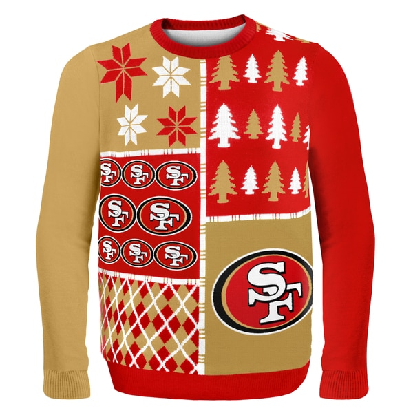 Forever Collectibles NFL San Francisco 49ers Busy Block Ugly Sweater