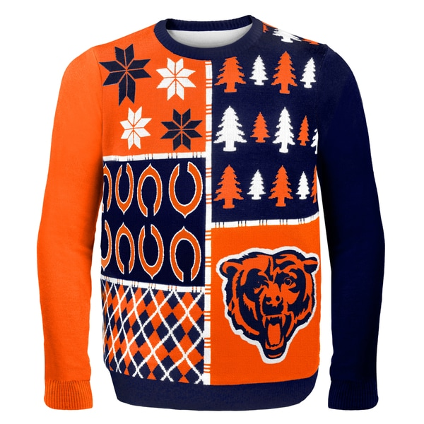 Chicago Bears Busy Block Ugly Sweater