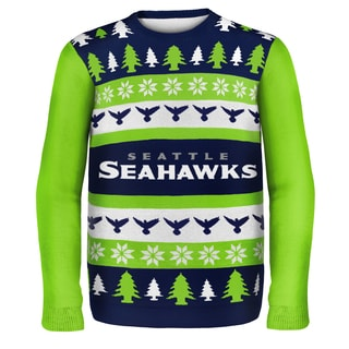 Forever Collectibles NFL Seattle Seahawks One Too Many Ugly Sweater