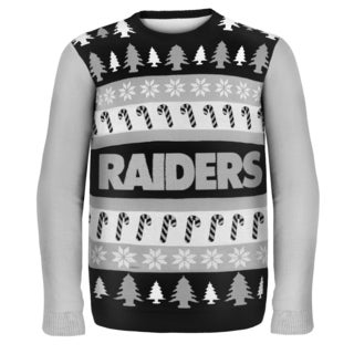 Forever Collectibles NFL Oakland Raiders One Too Many Ugly Sweater
