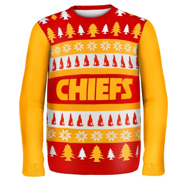 Forever Collectibles NFL Kansas City Chiefs One Too Many Ugly Sweater