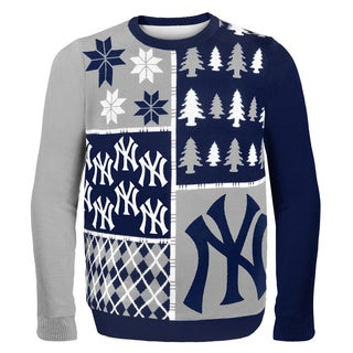 Forever Collectibles MLB New York Yankees Busy Block Ugly Sweater