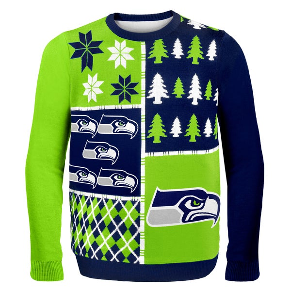 Seattle Seahawks Busy Block Ugly Sweater