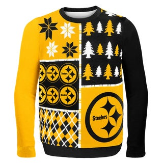 Forever Collectibles NFL Pittsburgh Steelers Busy Block Ugly Sweater