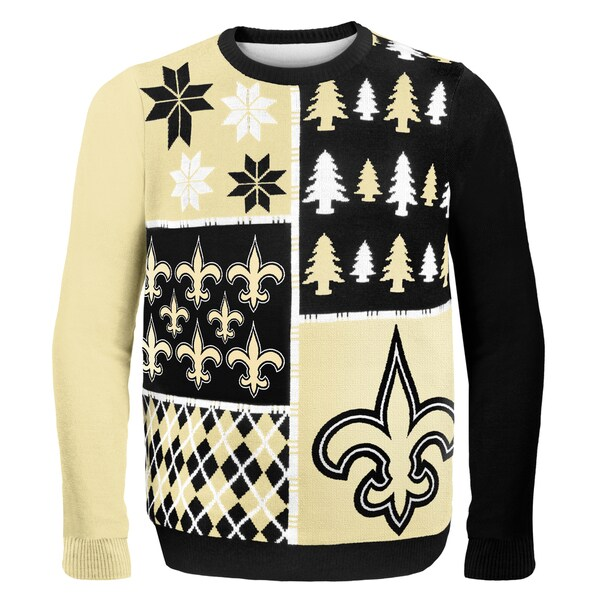 Forever Collectibles NFL New Orleans Saints Busy Block Ugly Sweater